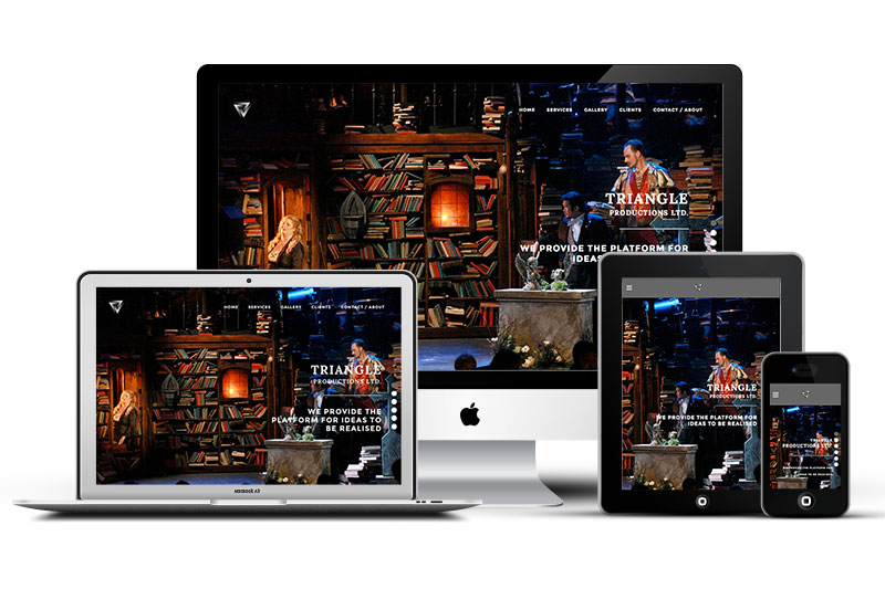 Web design for Triangle productions